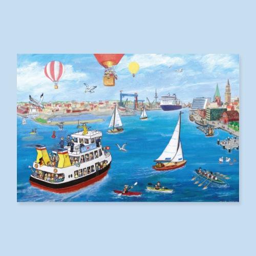 Kieler Hafeneinfahrt - Poster 30x20 cm