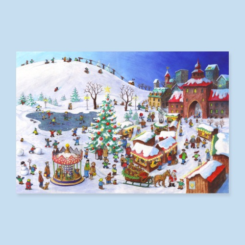 Im Winter - Poster 30x20 cm