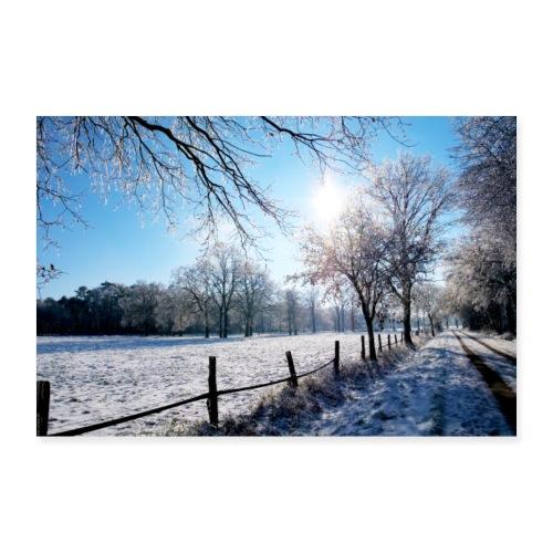 Scherenbostel im Schnee - Poster 30x20 cm