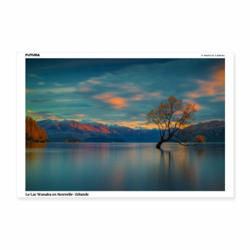 Poster Lac de Wanaka Nouvelle Zélande - Poster 30 x 20 cm