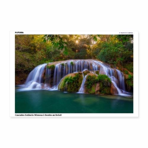 Poster Cascades Mimosa à Bonito au Brésil - Poster 30 x 20 cm