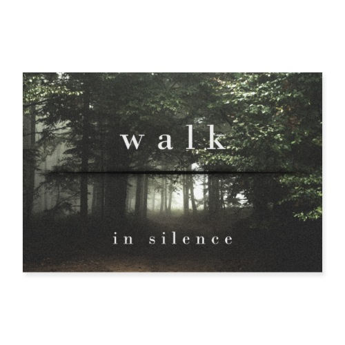 Walk in silence - Poster 30x20 cm