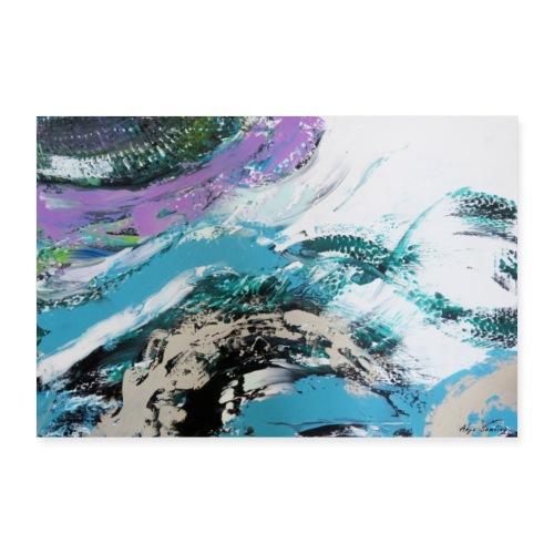 Abstrakt: Wellen - Poster 30x20 cm