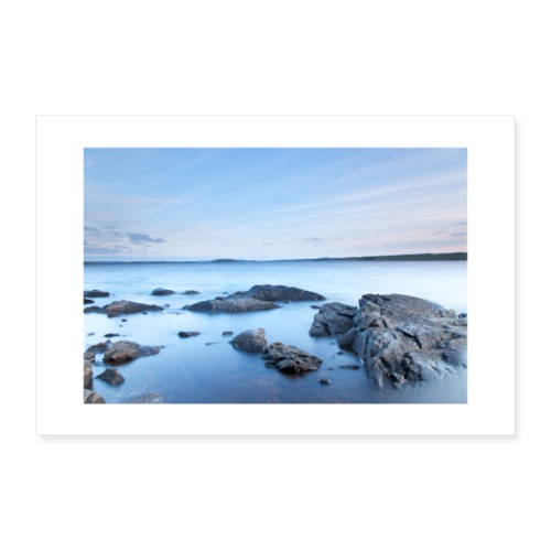 sunset on the lake - Poster 12 x 8 (30x20 cm)