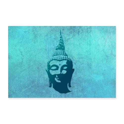 Boeddha hoofd - Poster 30x20 cm