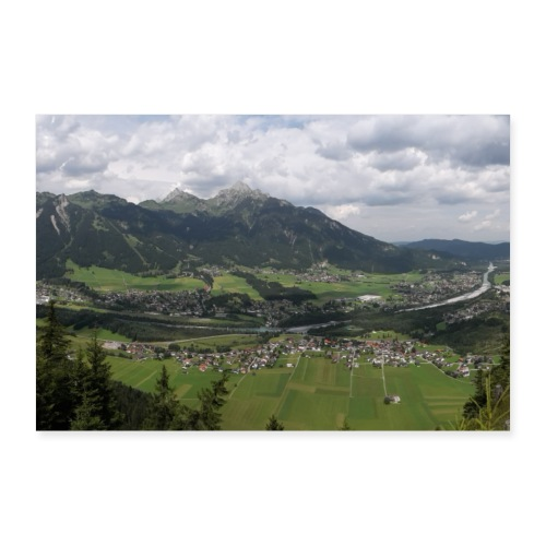 Bergpanorama Reute - Poster 30x20 cm