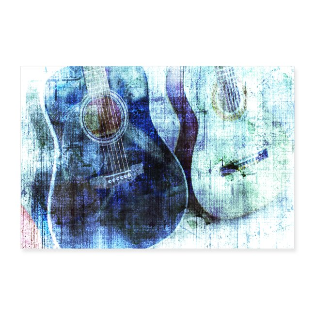 GUITARS ABSTRACT BLUE