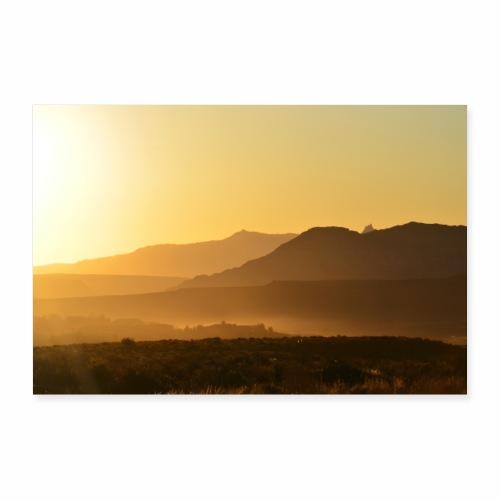 Morgenstimmung in der Wüste - Poster 30x20 cm