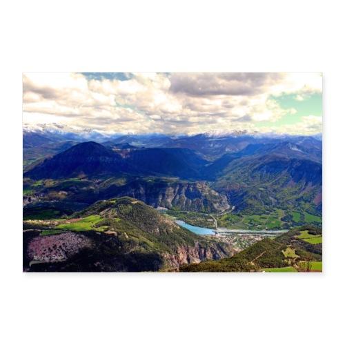 Poster Vue sur les Alpes de Haute-Provence - Poster 30 x 20 cm