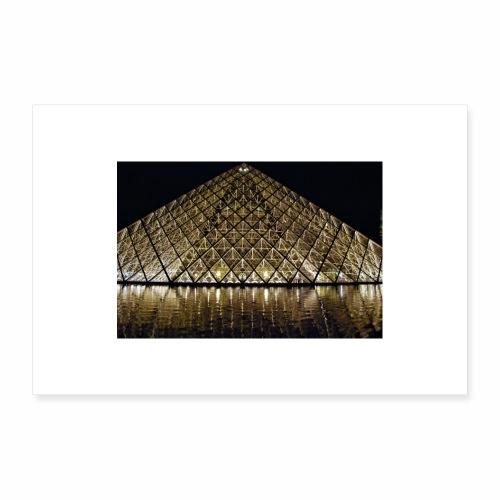 Le Louvre - Poster 30 x 20 cm