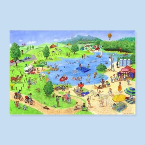 Im Sommer - Poster 60x40 cm