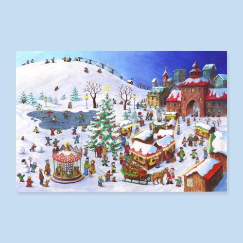 Im Winter - Poster 60x40 cm