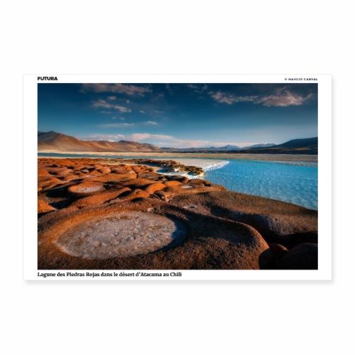 Poster Lagune des Piedras Rojas désert d'Atacama - Poster 60 x 40 cm