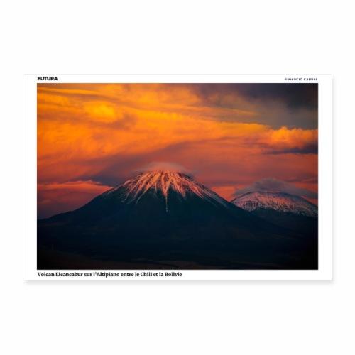 Poster Volcan Licancabur sur l'Altiplano - Poster 60 x 40 cm