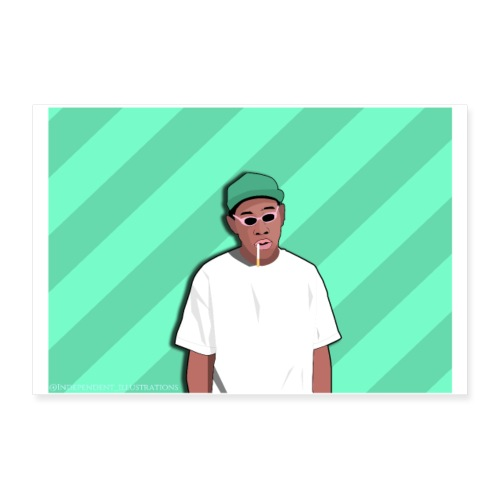 Tyler The Creator Poster - Poster 24 x 16 (60x40 cm)