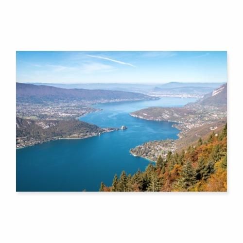Le Lac d'Annecy en automne - Poster 60 x 40 cm