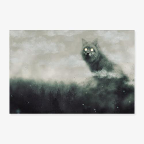 Silver fox - Poster 60 x 40 cm