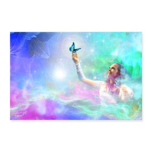 Farbphantasien - Augenblicke - - Poster 60x40 cm