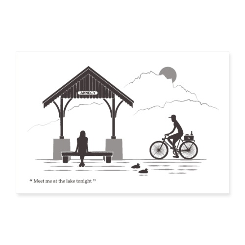 Annecy - Meet me at the lake - Poster 60 x 40 cm