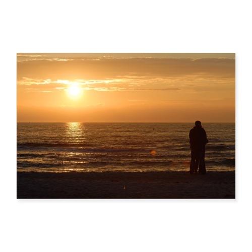 Zweisamkeit am Meer - Poster 60x40 cm