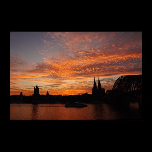Kölner Skyline - Poster 60x40 cm