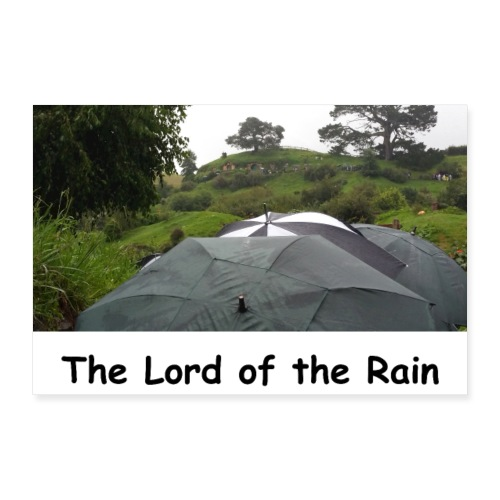 The Lord of the Rain - Neuseeland - Regenschirme - Poster 60x40 cm