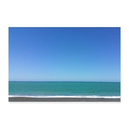 Napier Neuseeland - blauer Himmel, Meer türkis - Poster 60x40 cm