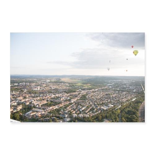 montgolfiades vu du ciel - Poster 60 x 40 cm