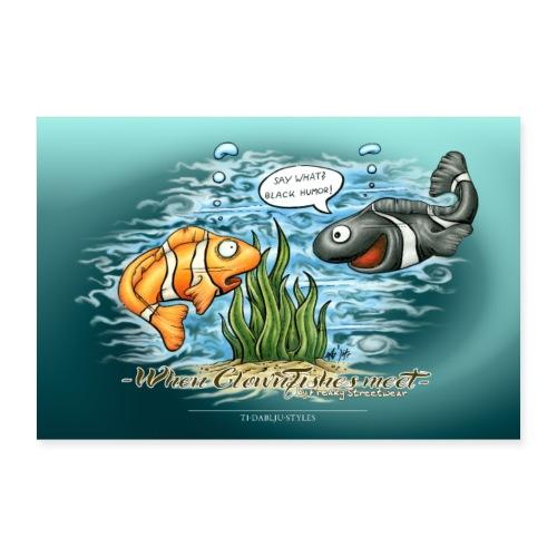 When Clownfishes meet - Poster 60x40 cm