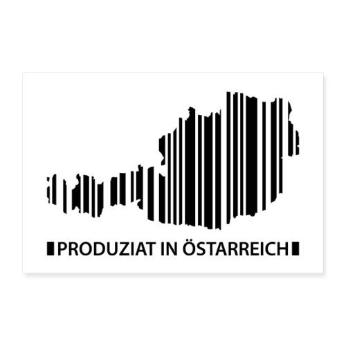 Vorschau: Produziat in Östarreich - Poster 60x40 cm
