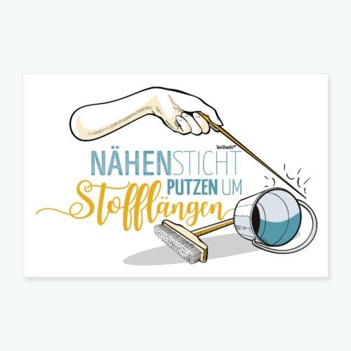 Poster Nähen Putzen Frauen Spruch Handarbeit - Poster 60x40 cm