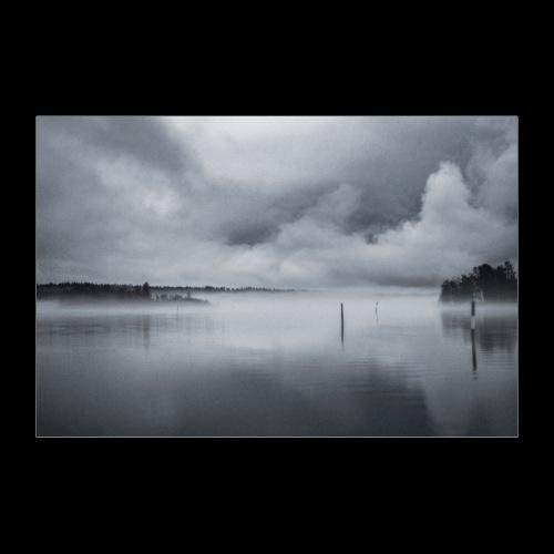 Usvainen Savonlinnan satama - Juliste 60x40 cm