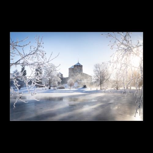 Talvinen Olavinlinna - Juliste 60x40 cm