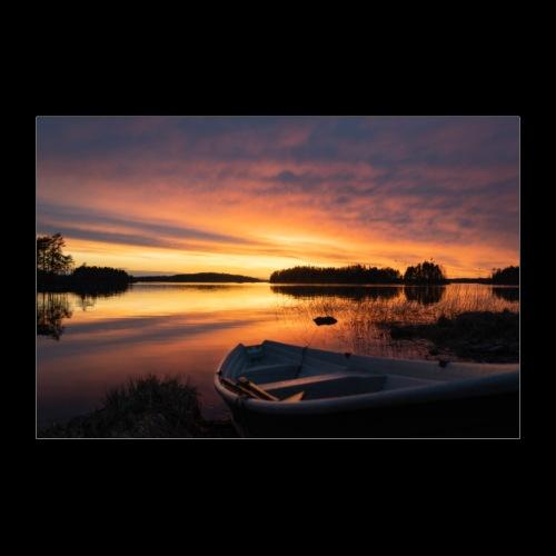 Auringonlasku Saimaalla - Juliste 60x40 cm