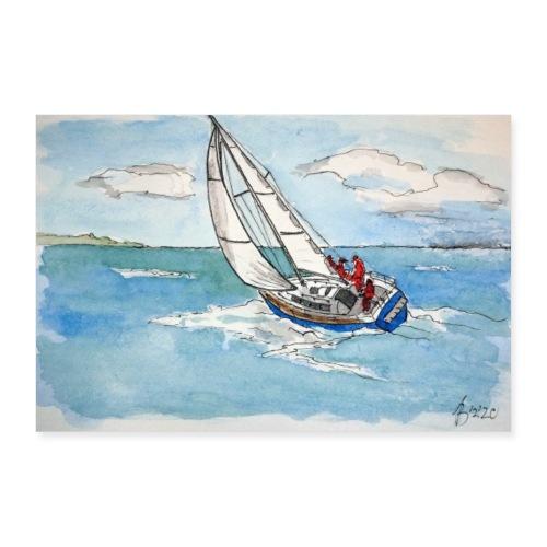 Vor dem Wind - Poster 60x40 cm