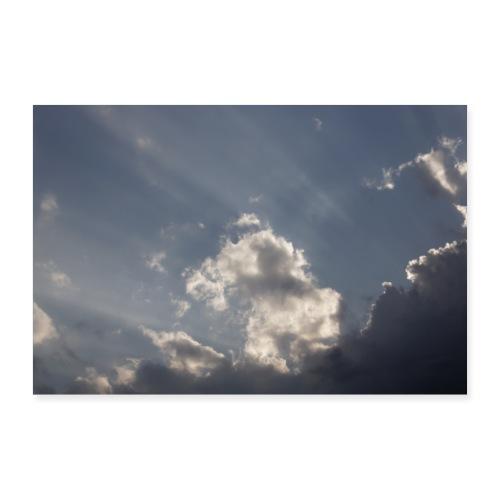 Himmel mit Wolken und Sonnenstrahlen - Poster 60x40 cm