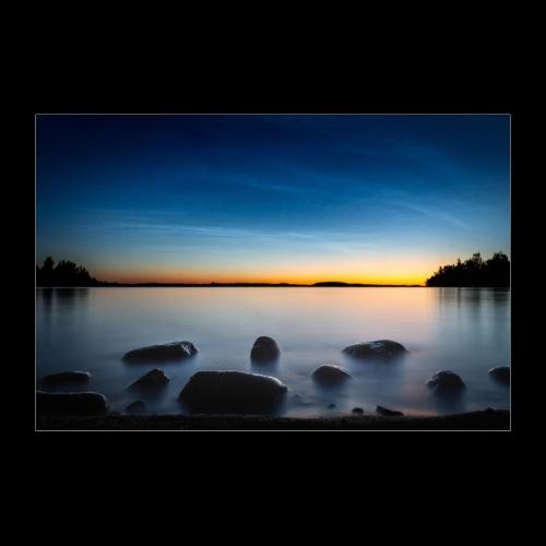Yöpilvet Saimaan yllä - Juliste 60x40 cm