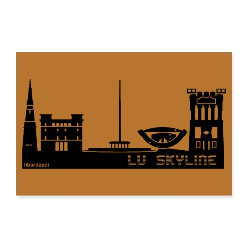 Poster: Lu Skyline rame - Poster 60x40 cm