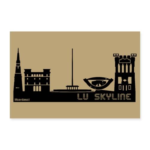 Poster: Lu Skyline tortora - Poster 60x40 cm