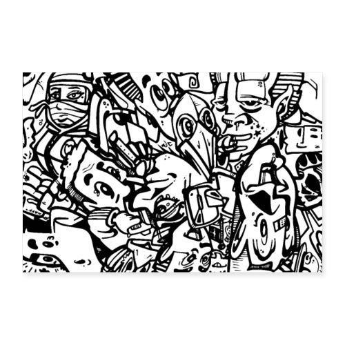 Doodles 2 Poster - Poster 60x40 cm