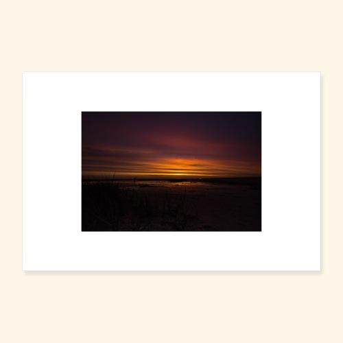 Sonnenuntergang in Dänemark - Poster 60x40 cm