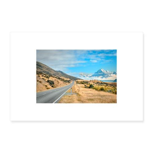 Mount Cook New Zealand - Poster 24 x 16 (60x40 cm)