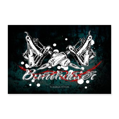 Poster Bunthäuter - Poster 60x40 cm