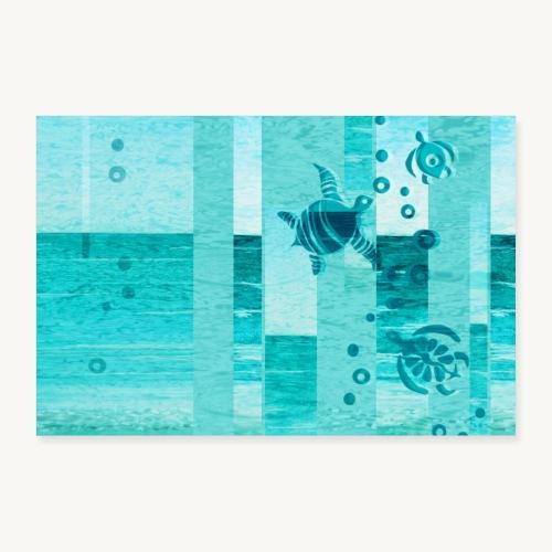 Turtles - Poster 60x40 cm