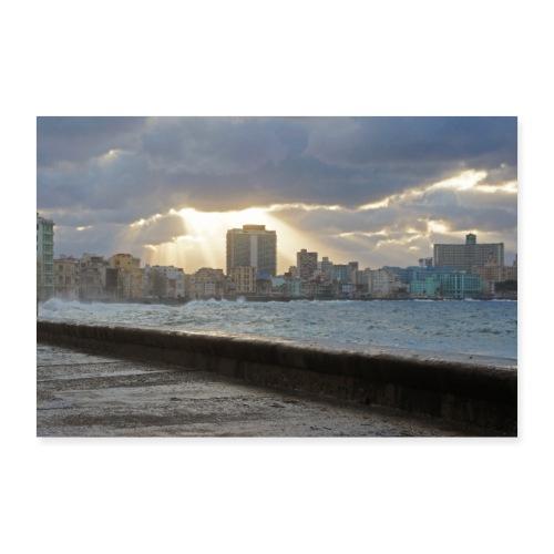 Malecón de la Habana - Poster 60x40 cm
