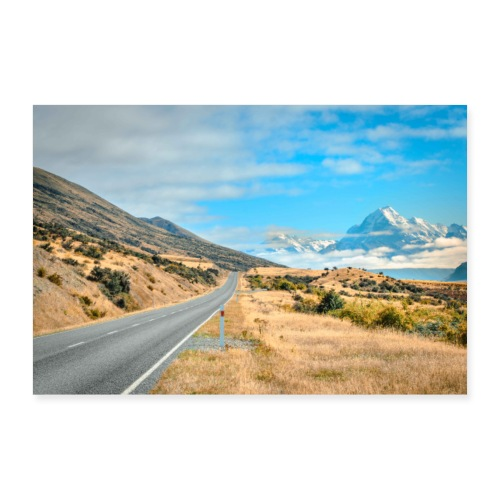 Mount Cook New Zealand - Poster 24 x 16 (60x40 cm)