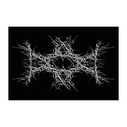 dark metal - Poster 60x40 cm