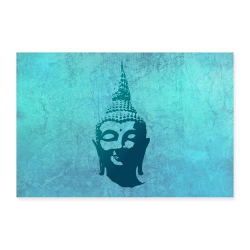 Boeddha hoofd - Poster 60x40 cm