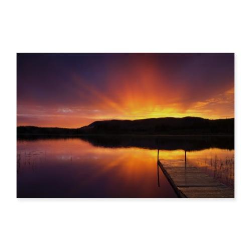 Solnedgång - Poster 60x40 cm