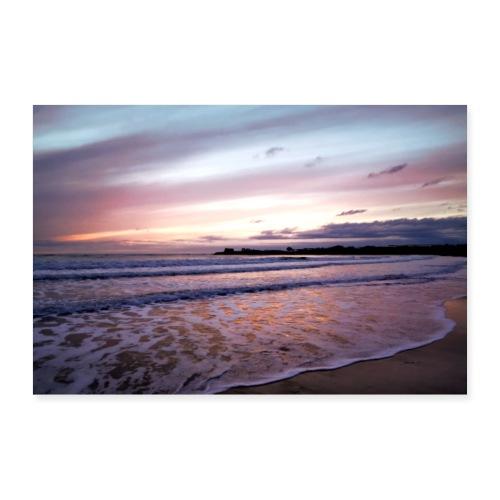 summer feeling beach sea waves - Poster 60x40 cm